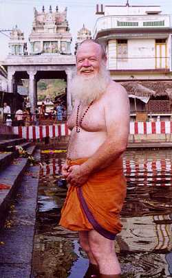 Foreign devotee at Tiruttani