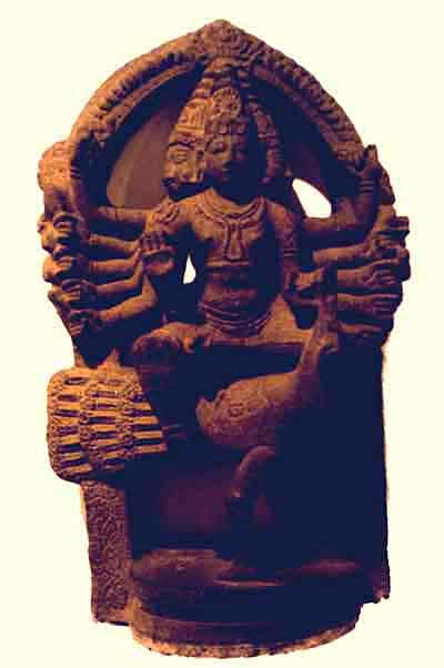 stone icon of Karttikeya from ancient North India, 7th century AD