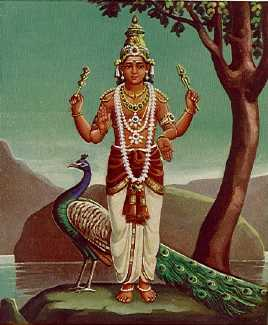 Sikhivahana, 'He Whose Vehicle is the Peacock' 